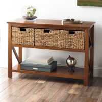Sonoma Goods for Life 4-Piece Cameron Console Table Set (Hazelnut/ Antique White)