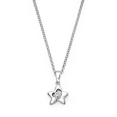 Little Diva Diamonds Sterling Silver Diamond Accent Star Pendant - Kids