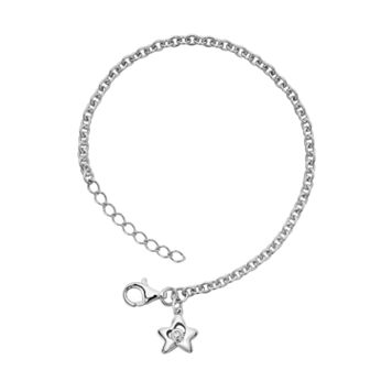 Little Diva Diamonds Sterling Silver Diamond Accent Star Bracelet - Kids