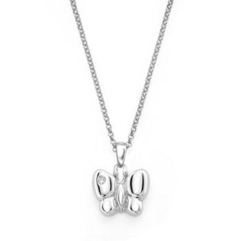 Little Diva Diamonds Sterling Silver Diamond Accent Butterfly Pendant - Kids