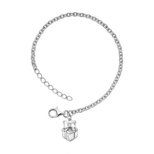 Little Diva Diamonds Sterling Silver Diamond Accent Gift Box Bracelet - Kids