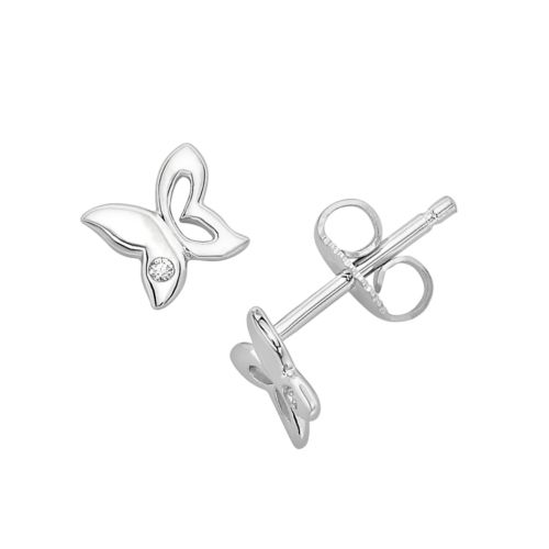 Little Diva Diamonds Sterling Silver Diamond Accent Butterfly Stud Earrings - Kids