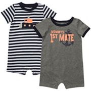 Carter's 2-pk. Striped and Mommy's 1st Mate Rompers - Baby