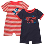 Carter's 2-pk. Striped and Beyond Cute Rompers - Baby