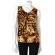 Jennifer Lopez Animal Shirred Top - Petite