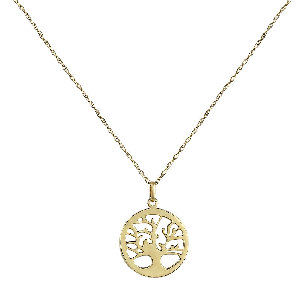 14k Gold Openwork Tree of Life Pendant