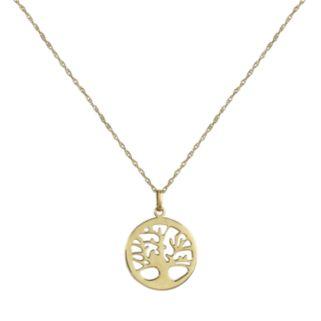 14k Gold Openwork Tree of Life Pendant