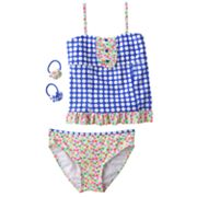 Candie's Dot 4-pc. Tankini Swimsuit Set - Girls Plus