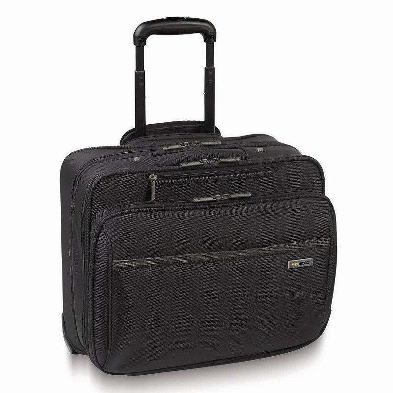 Solo Sterling 16-Inch Wheeled Laptop Overnight Bag, Black