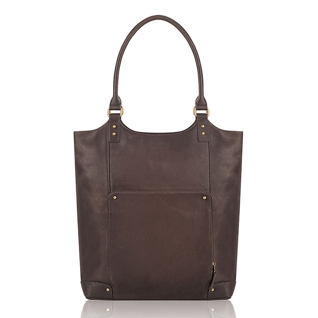 Solo Executive 16 Inch Leather Laptop Bucket Tote