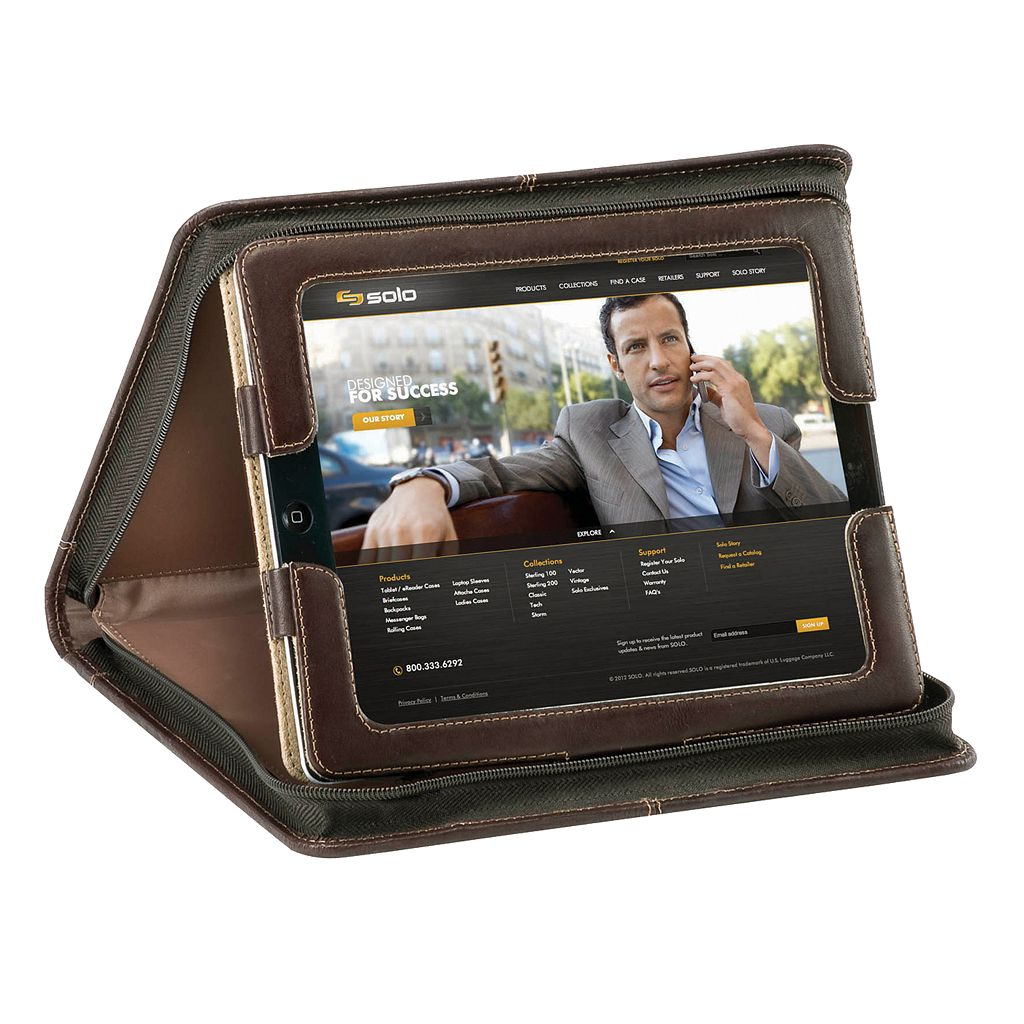 Solo Vintage Folio iPad Case