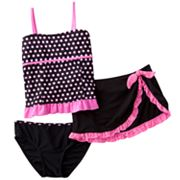 Candie's Dot 3-pc. Tankini Swimsuit Set - Girls Plus
