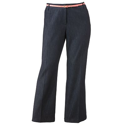 Apt. 9 Curvy Straight-Leg Trouser Jeans - Women's Plus