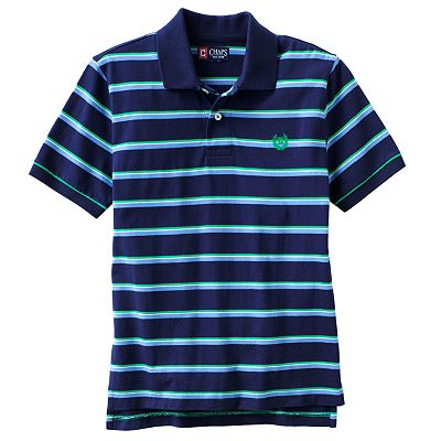 Chaps Striped Jersey Polo - Boys 8-20