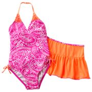 Malibu Dream Girl Paisley 2-pc. Swimsuit Set - Girls Plus