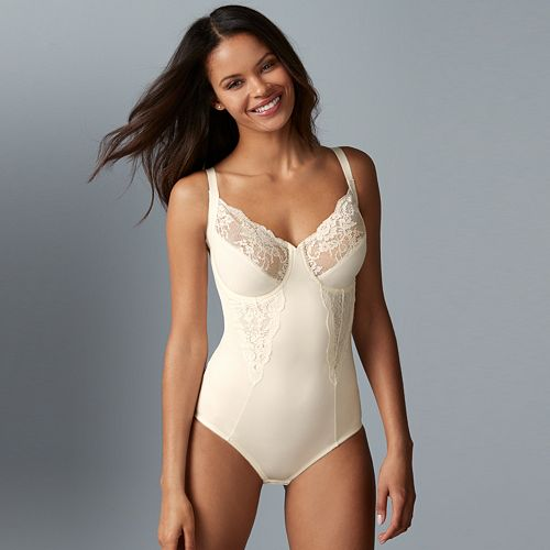 Maidenform Shapewear Lace-Trim Body Shaper 1456