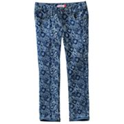 SO Floral Skinny Ankle Jeans - Girls 7-16