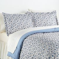 Jacobean Floral Micro Flannel® 2 pc Comforter Set - Twin