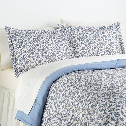 Jacobean Floral Micro Flannel® 2-pc. Comforter Set - Twin