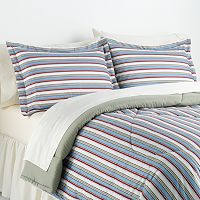 Awning Stripes Micro Flannel® 3 pc Comforter Set - Full/Queen