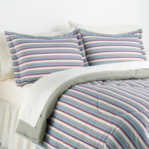 Awning Stripes Micro Flannel® 3-pc. Comforter Set - Full/Queen