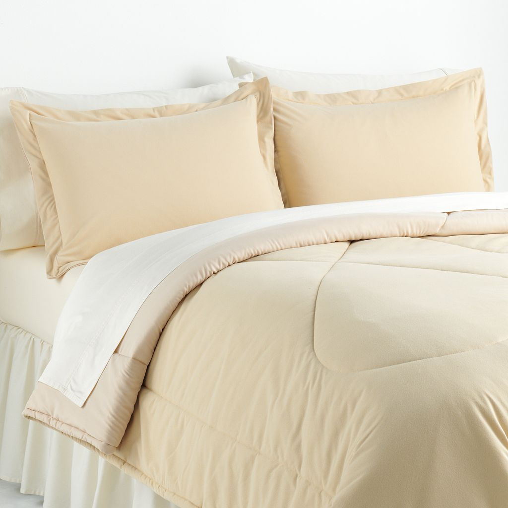 Solid Micro Flannel® 3-pc. Chino Comforter Set - King
