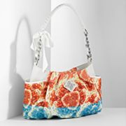 Simply Vera Vera Wang Alicia Floral Canvas Hobo