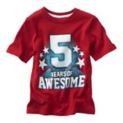 Jumping Beans 5 Years of Awesome Birthday Tee - Boys 4-7x