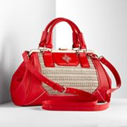 Simply Vera Vera Wang Straw Convertible Satchel