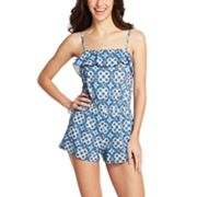 A Shore Fit Hip Solutions Geometric Swim Romper