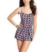 A Shore Fit Hip Solutions Floral Swim Romper
