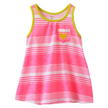Carter's Striped Neon Tank - Girls 4-6x