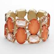 Apt. 9 Gold Tone Simulated Crystal Stretch Bracelet
