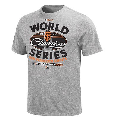 Majestic San Francisco Giants 2012 World Series Champions Clubhouse Tee - Big and Tall