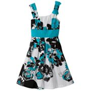 My Michelle Floral Asymmetrical Dress - Girls 7-16
