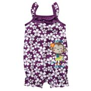 Jumping Beans Floral Monkey Romper - Baby