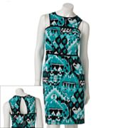 Melonie Ikat Sheath Dress