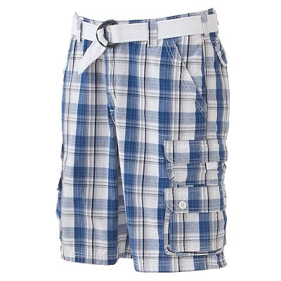 Lee Dungarees Plaid Cargo Shorts - Men