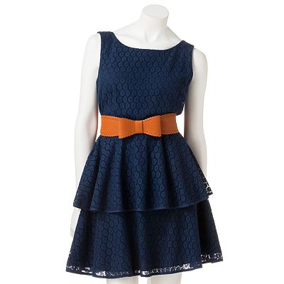 City Triangles Lace Dress - Juniors