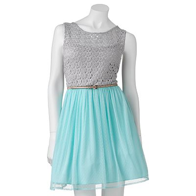 City Triangles Openwork Dress - Juniors