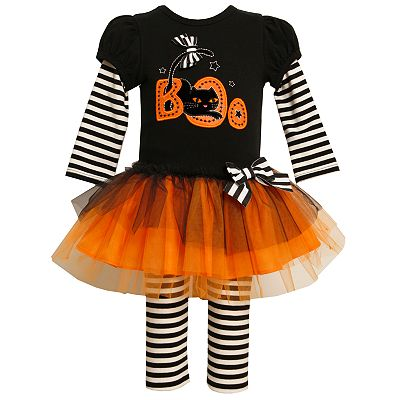 Bonnie Jean Halloween Boo Tutu Dress and Leggings Set - Baby