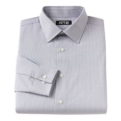Apt. 9 Slim-Fit Patterned Spread-Collar Dress Shirt
