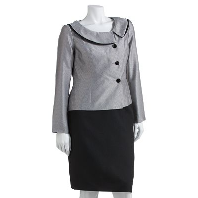 Isabella Iridescent Suit Jacket and Skirt Set