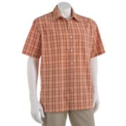 Van Heusen Plaid Pucker Casual Button-Down Shirt