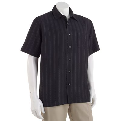 Van Heusen Striped Pucker Micro-Smooth Casual Button-Down Shirt