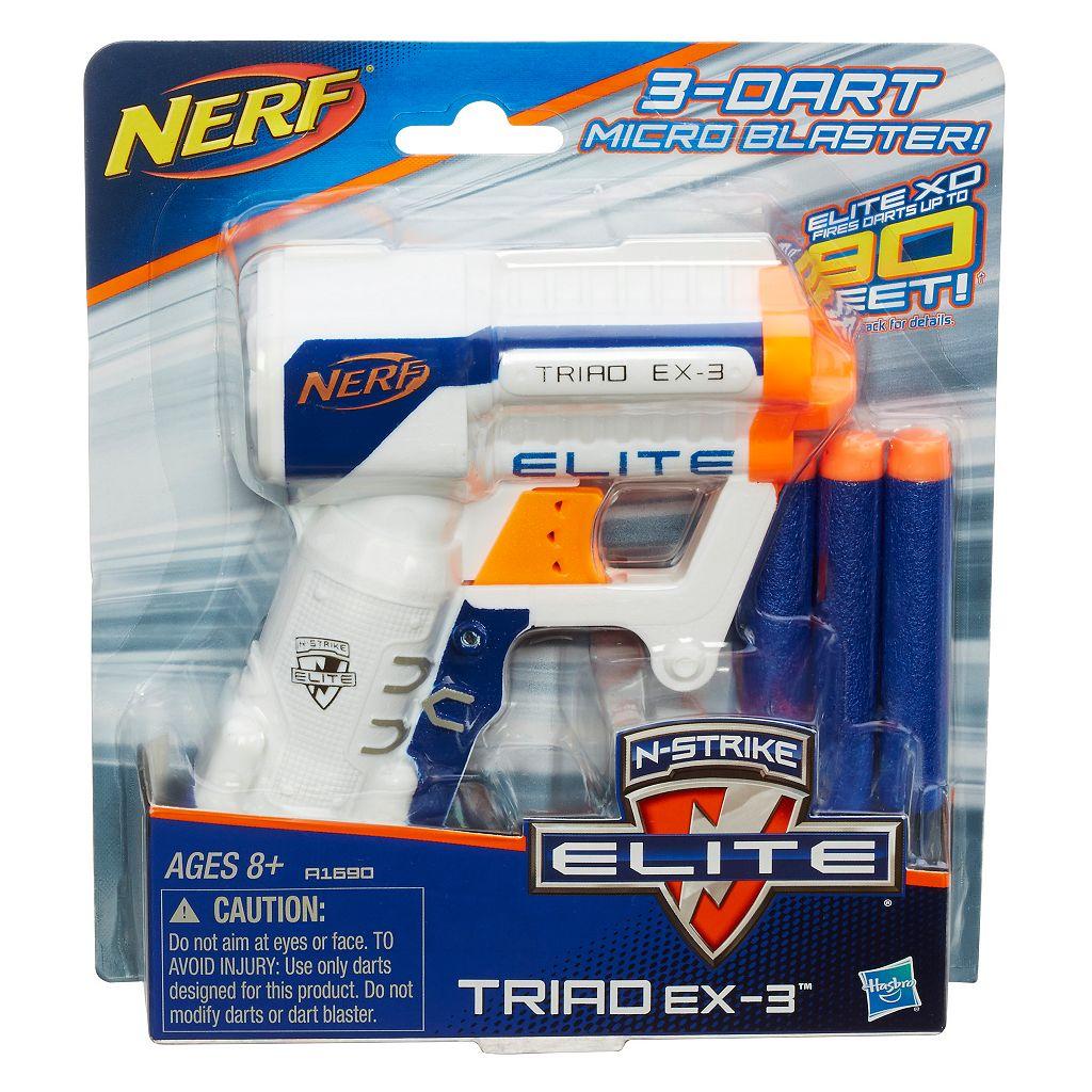 Nerf N-Strike Elite Triad Ex-3 Micro Blaster by Hasbro
