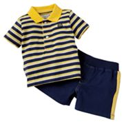 Chaps Striped Polo and Shorts Set - Baby