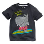Jumping Beans Mock-Layer Surfing Hippo Tee - Baby