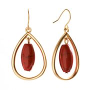 Chaps Bead Teardrop Earrings