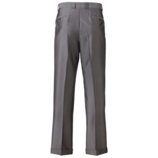 Men's Steve Harvey Striped Double-Pleated Gray Suit Pants